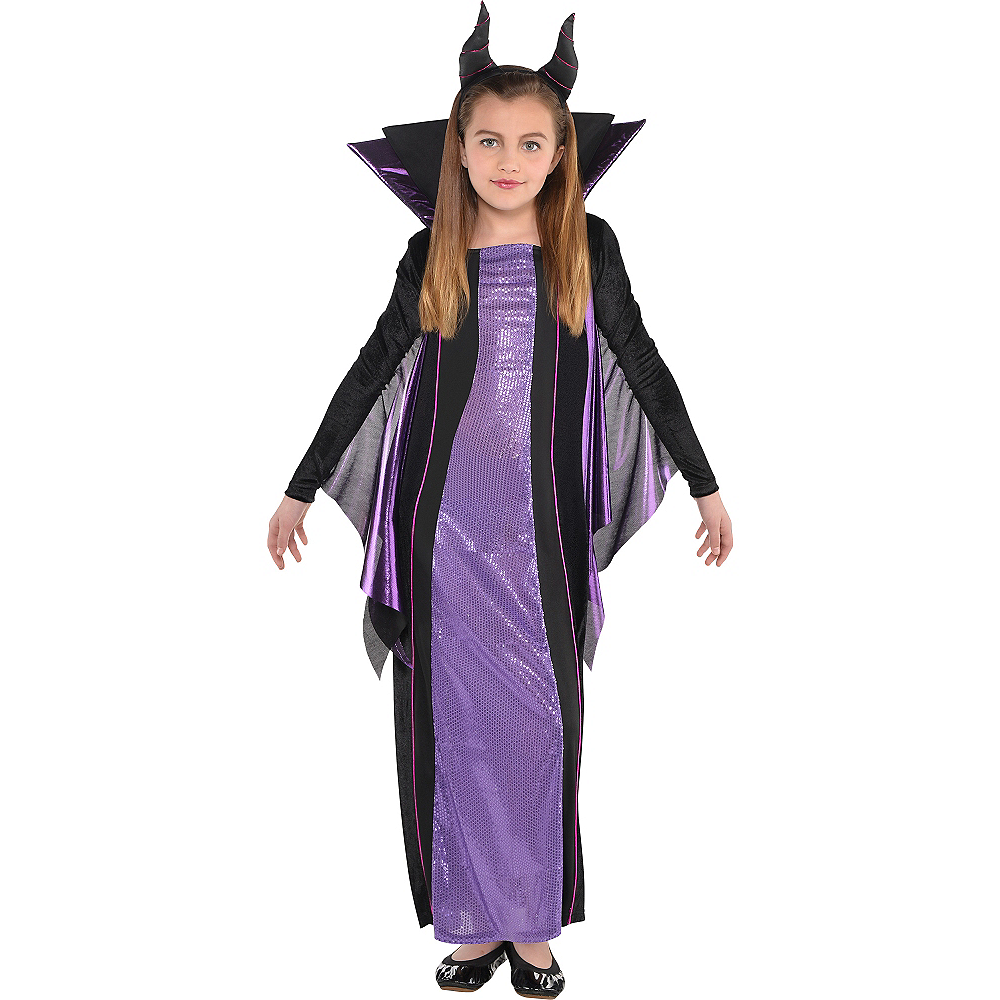 Girls Maleficent Costume - Sleeping Beauty Image #1