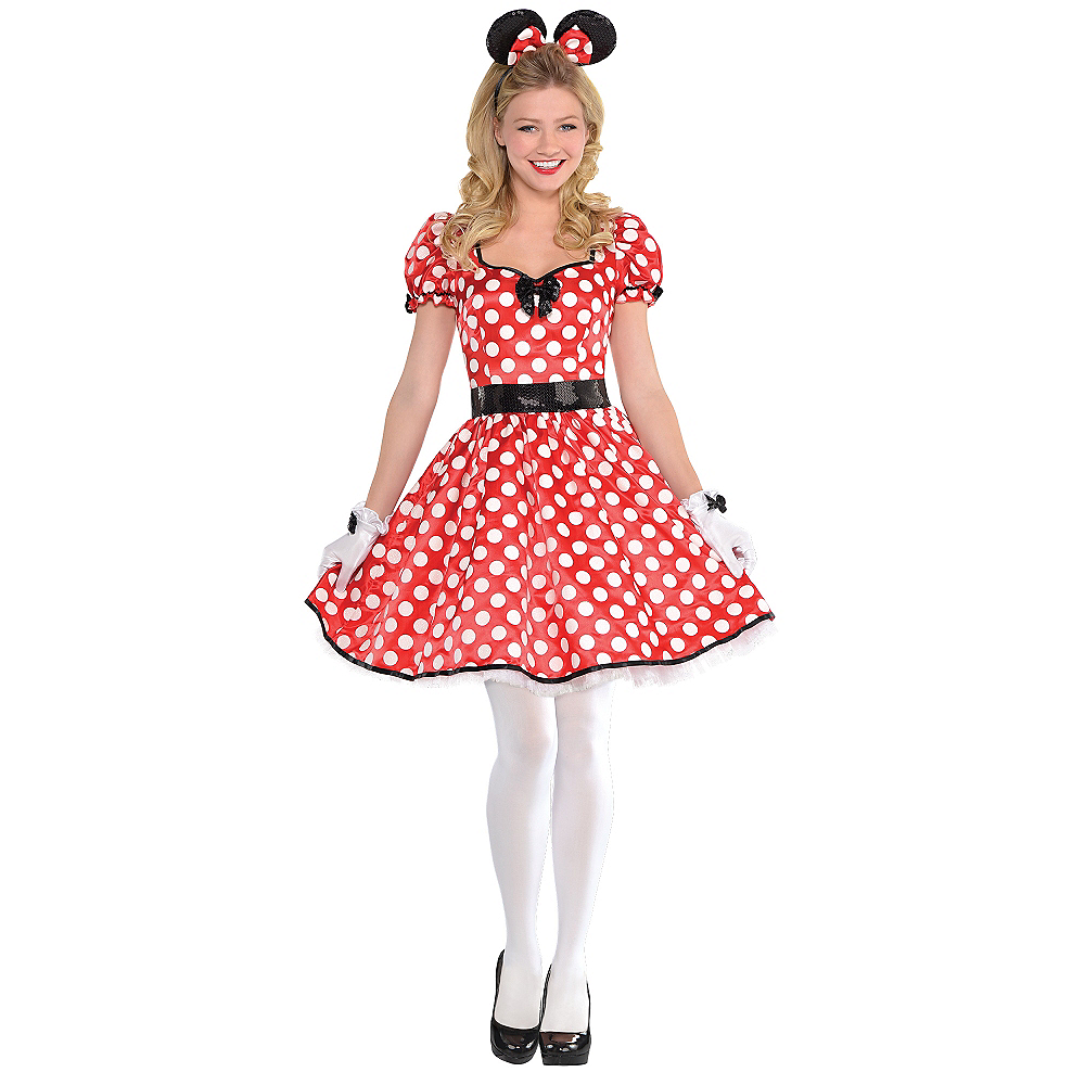 Nav Item for Adult Sassy Minnie Mouse Costume Image #1