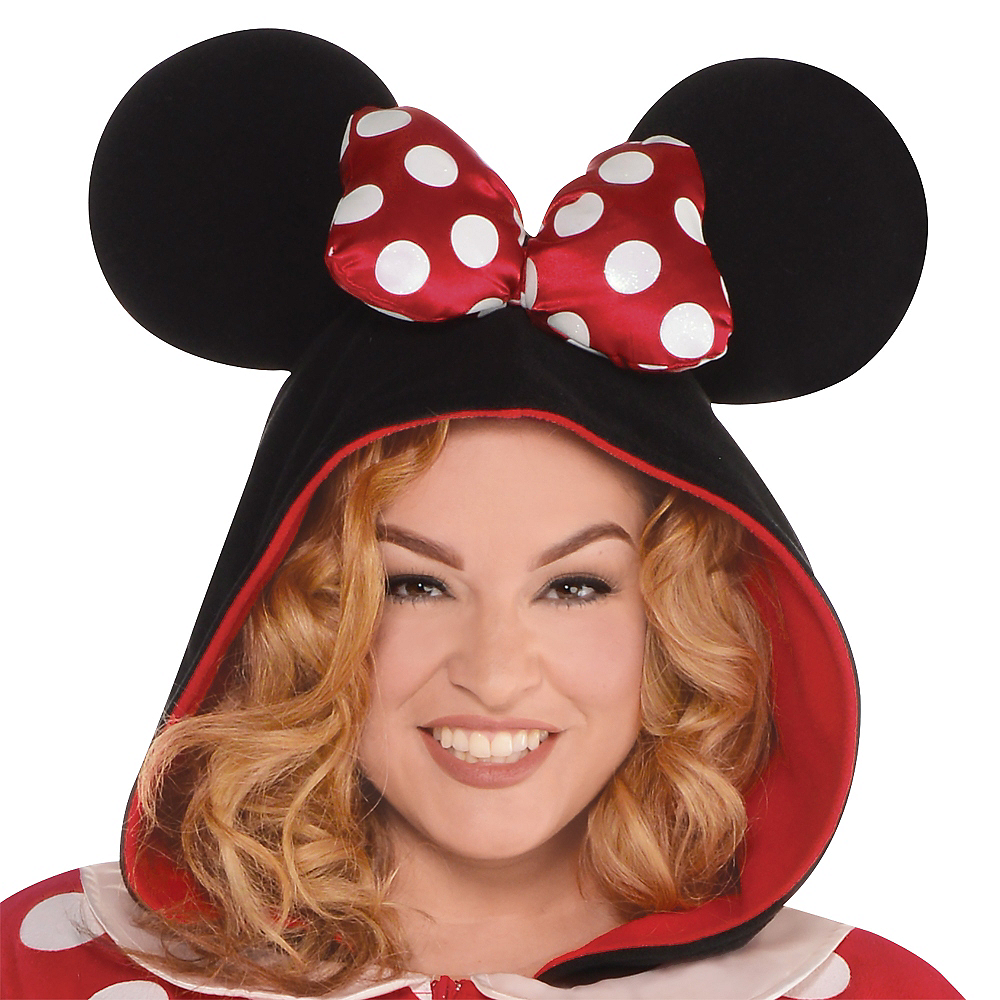 Adult Zipster Minnie Mouse One Piece Costume Plus Size Image #2