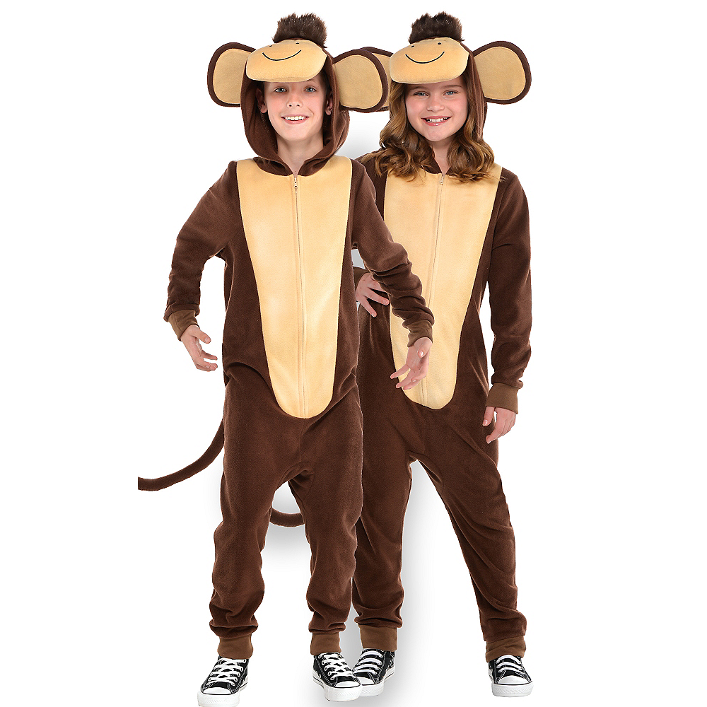 Child Zipster Monkey One Piece Costume Image #1