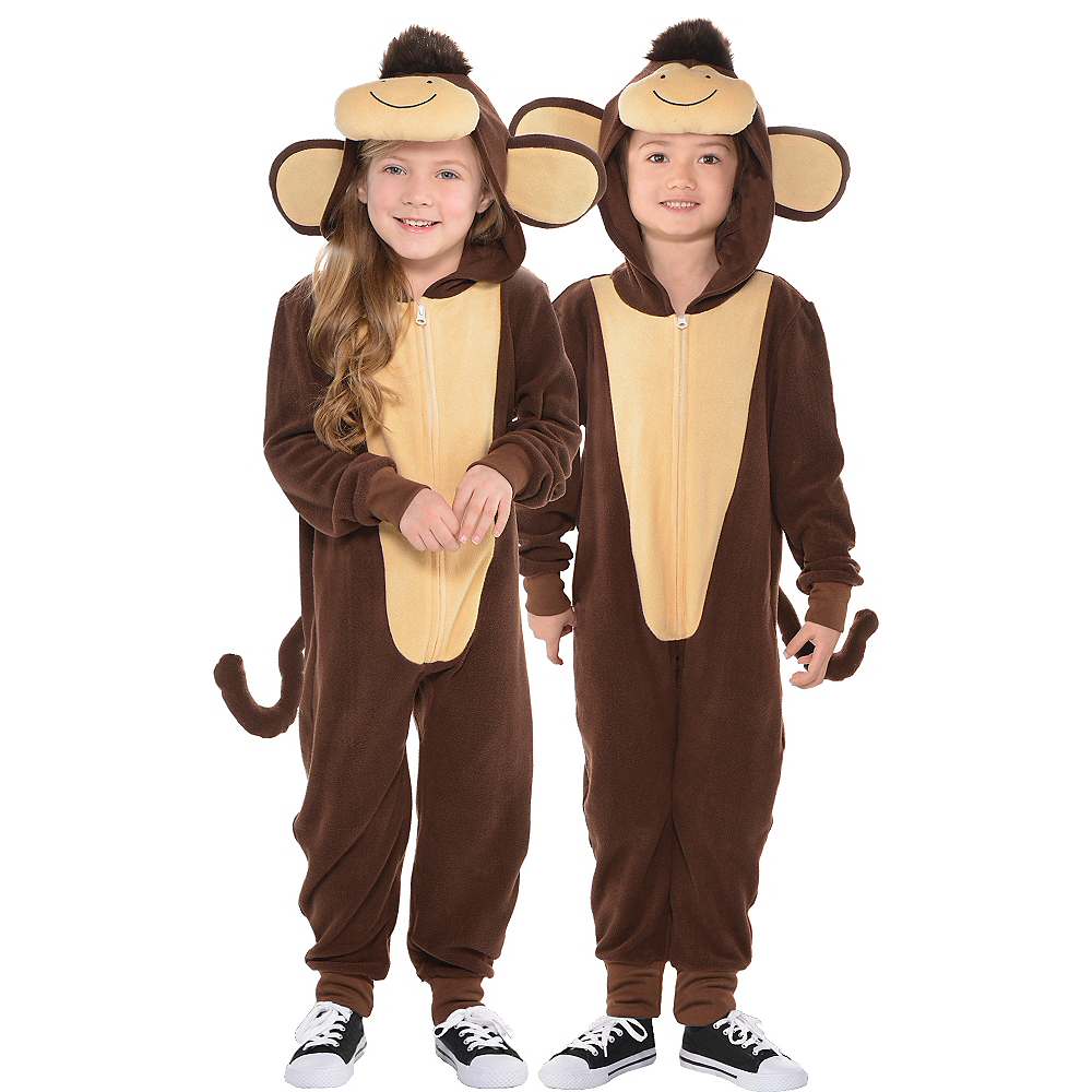 Toddler Zipster Monkey One Piece Costume Image #1