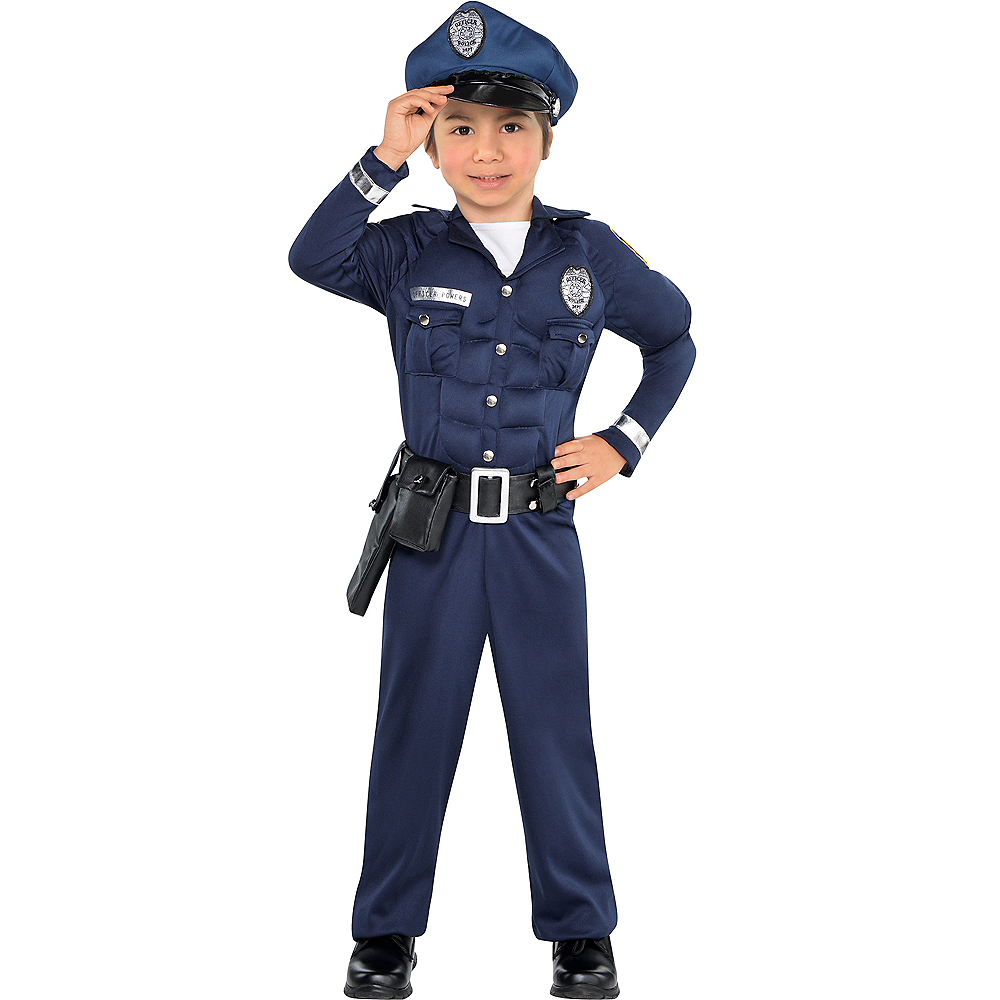 Nav Item for Toddler Boys Cop Muscle Costume Image #1