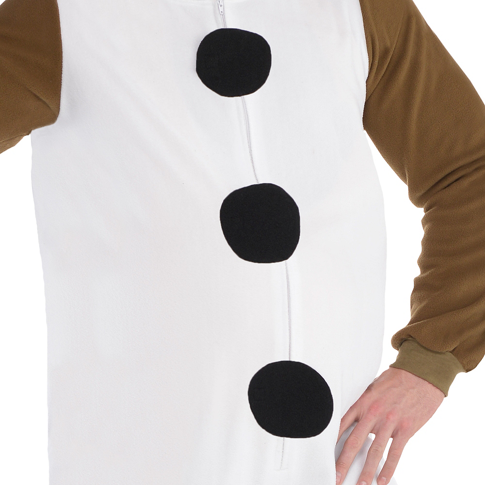 Adult Zipster Olaf One Piece Costume Plus Size - Frozen Image #3