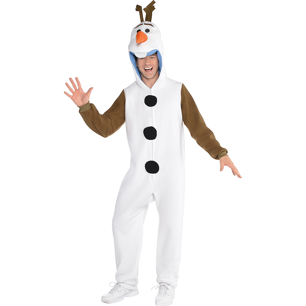 Nav Item for Adult Zipster Olaf One Piece Costume - Frozen Image #1