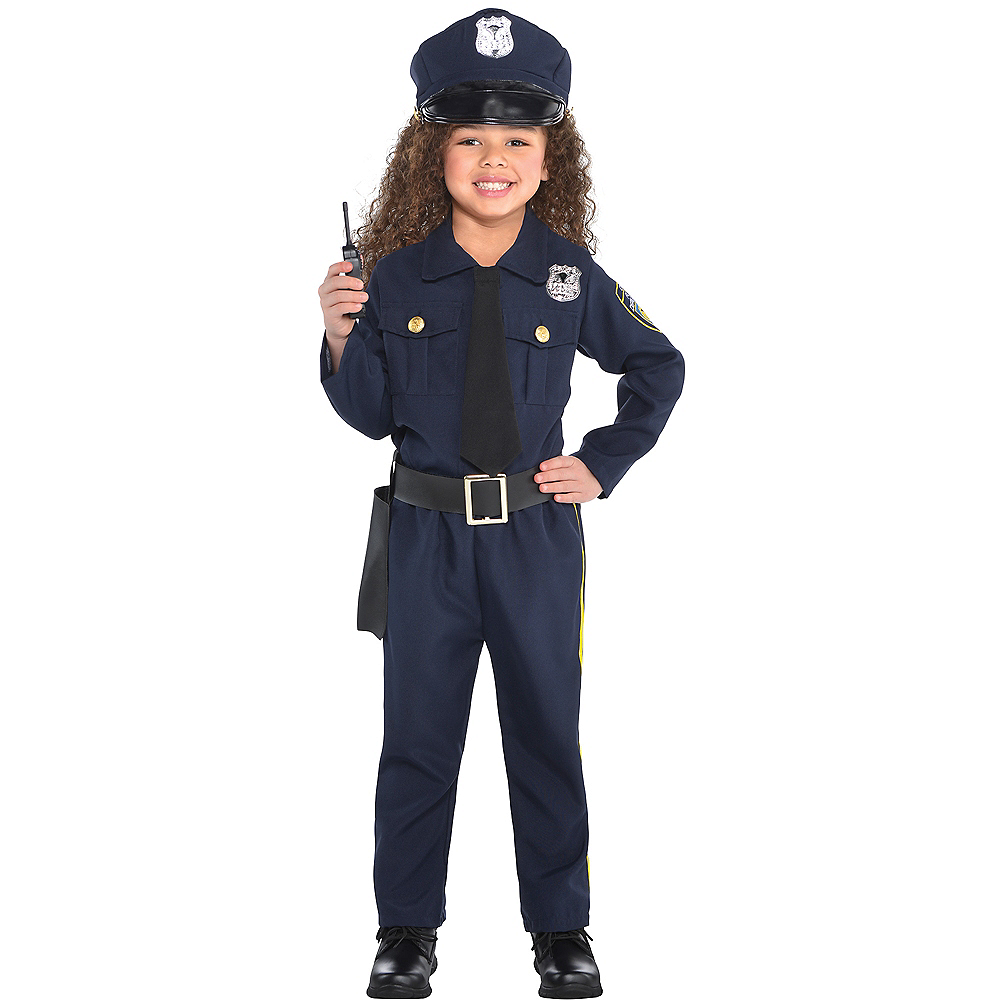 Nav Item for Girls Classic Police Officer Costume Image #1