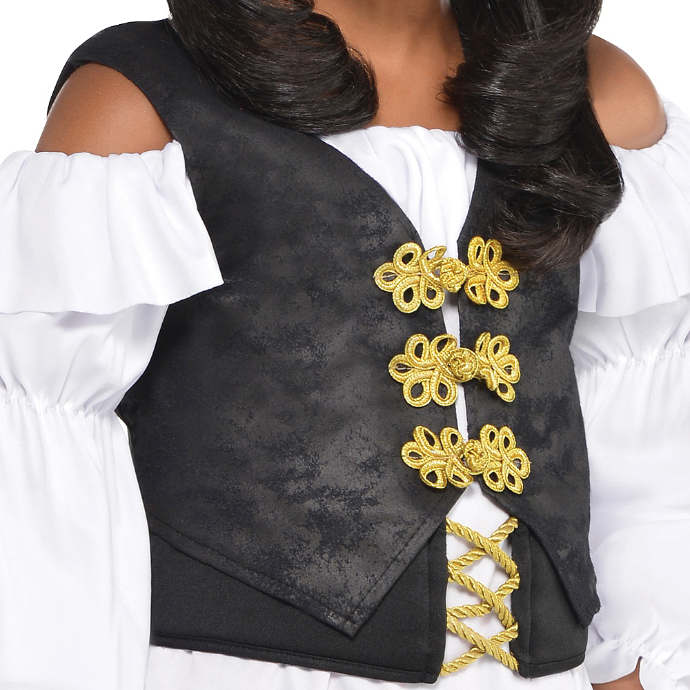 Nav Item for Girls Pretty Scoundrel Pirate Costume Image #2
