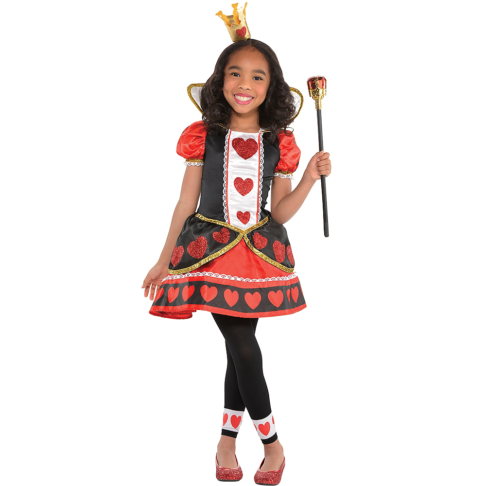 Queen Of Hearts Girls Toddler Alice In Wonderland Costume