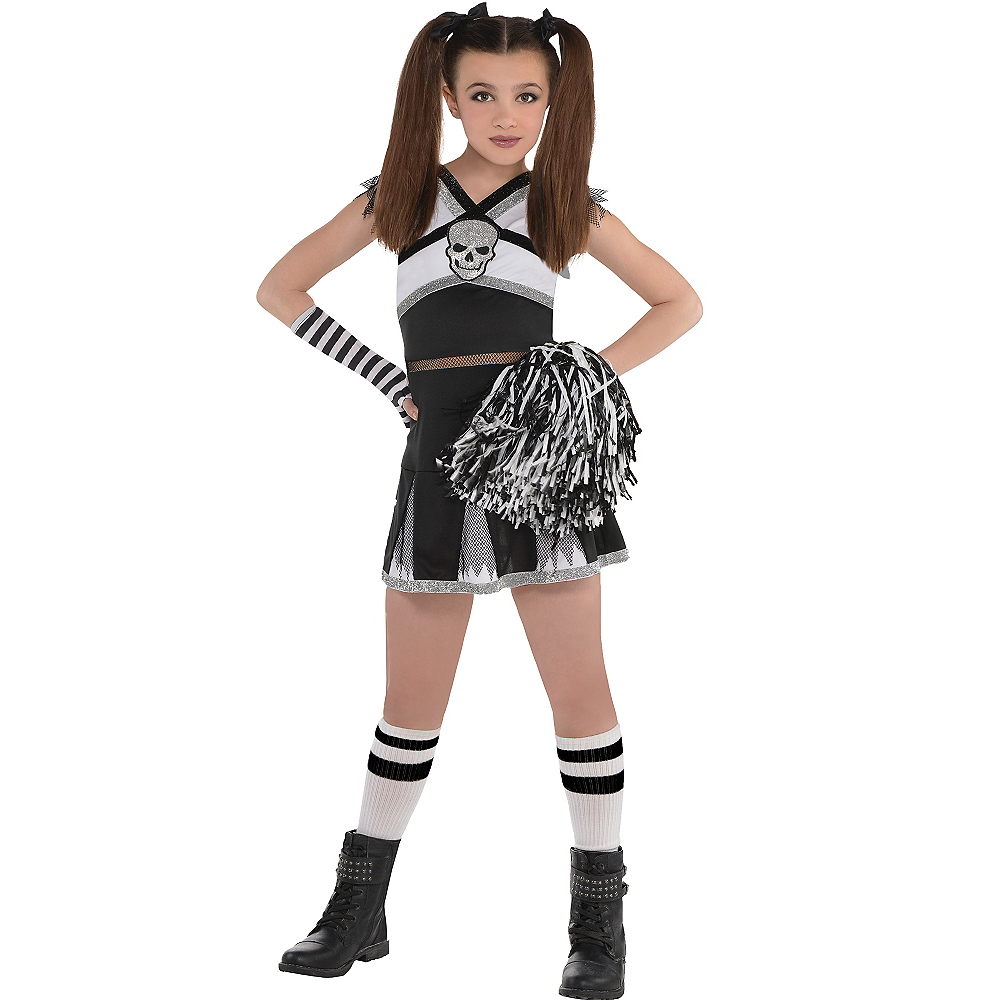 Girls Ra Ra Rebel Cheerleader Costume Image #1