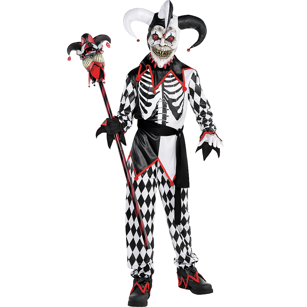 Nav Item for Boys Sinister Jester Costume Image #1