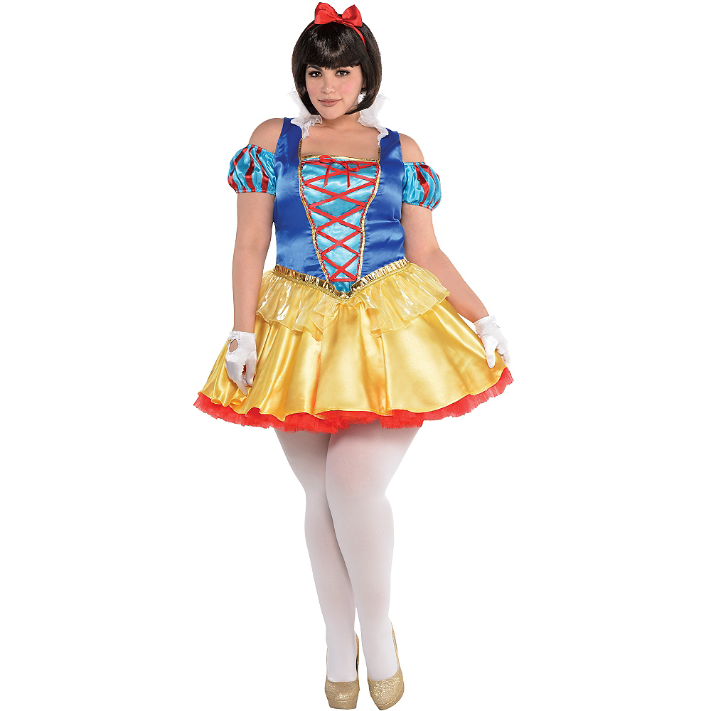 Adult Snow White Costume Plus Size Image #1
