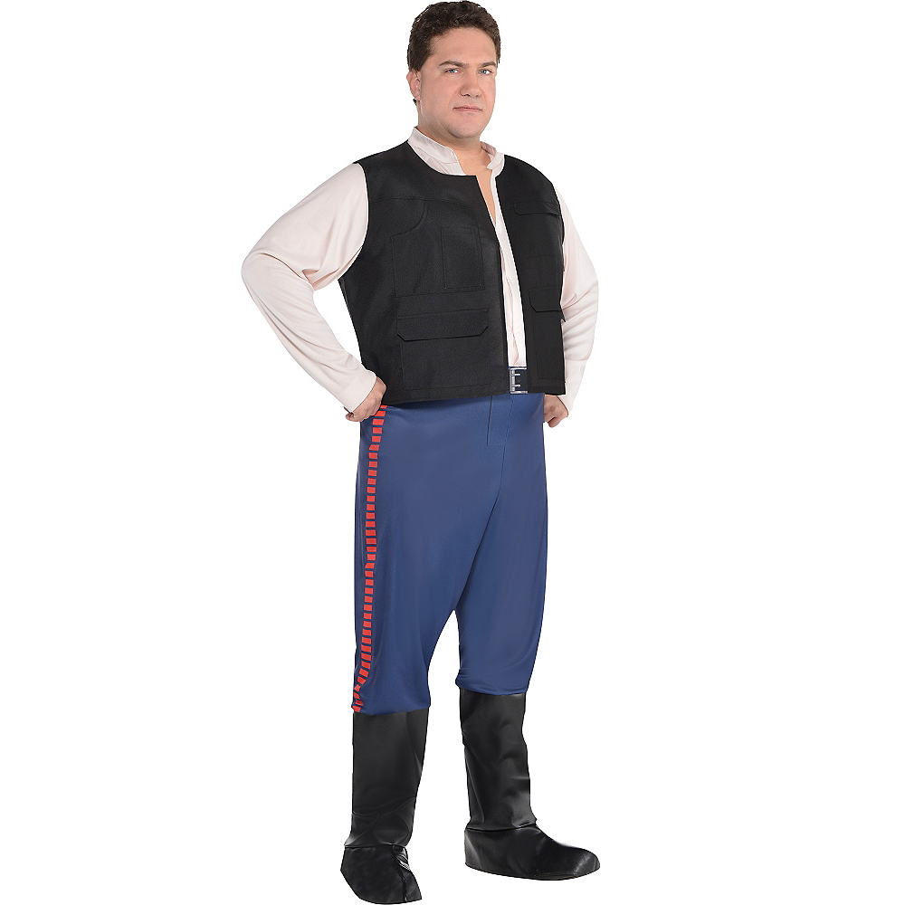 Adult Han Solo Costume Plus Size - Star Wars Image #1