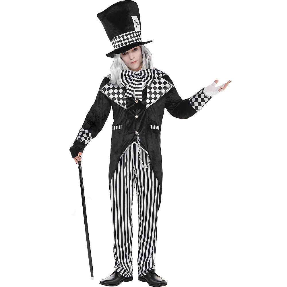 Adult Black & White Mad Hatter Costume Image #1