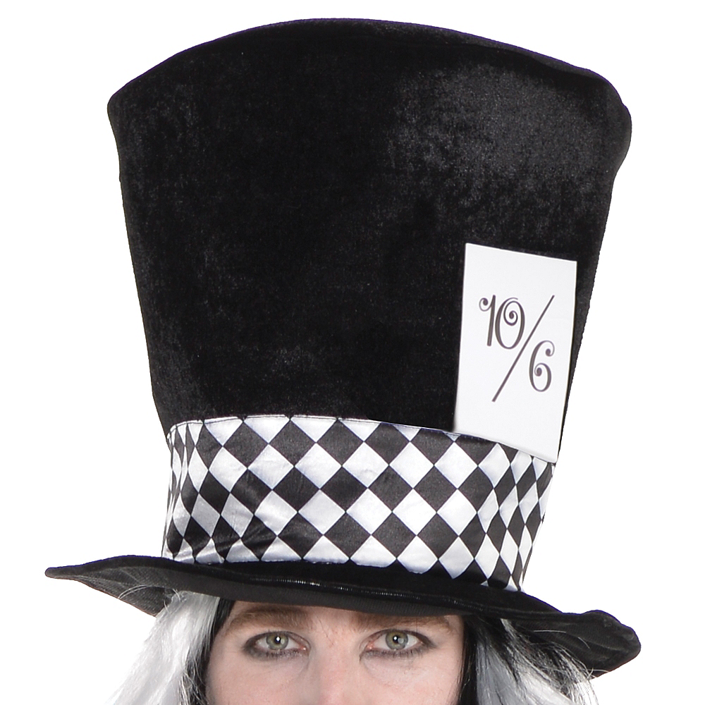 Adult Black & White Mad Hatter Costume Plus Size Image #2