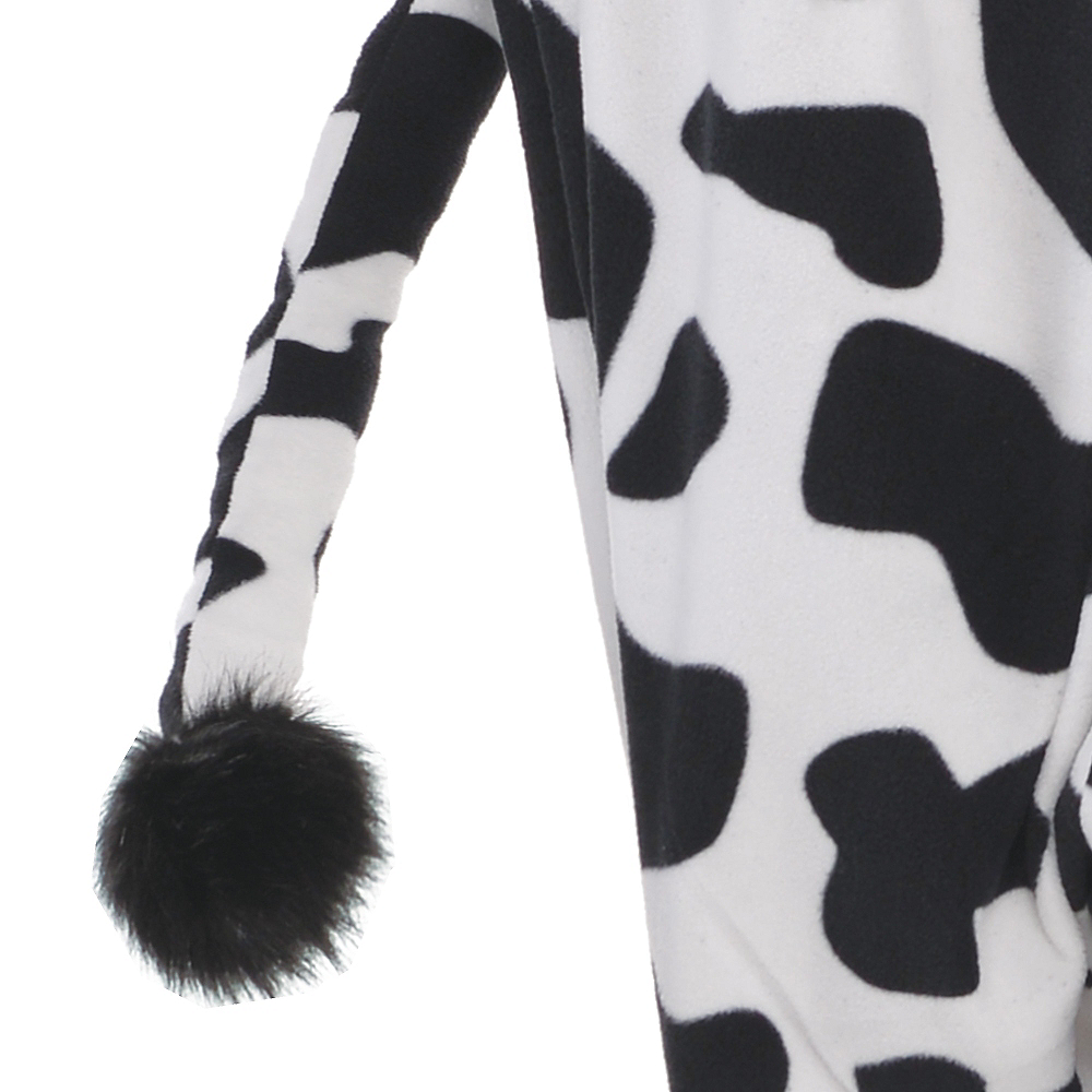 Adult Zipster Cow One Piece Costume Plus Size Image #3