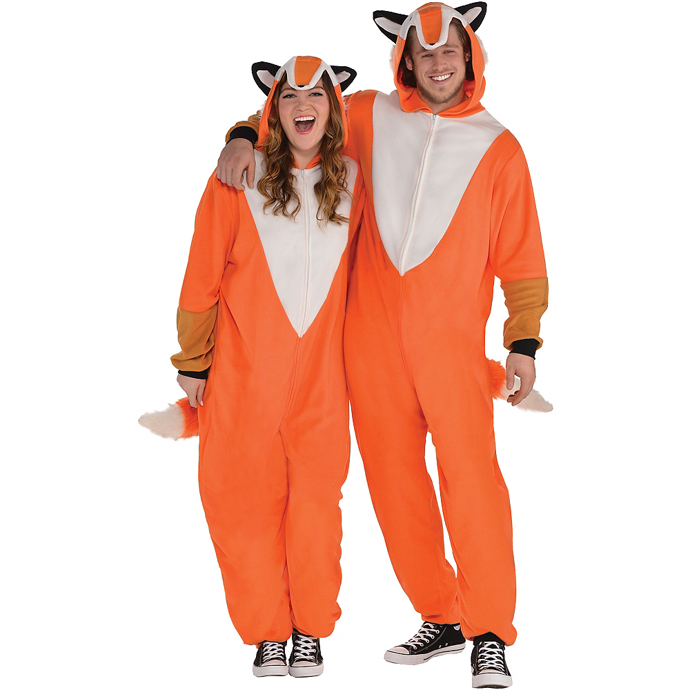 734eccb5890a Adult Zipster Fox One Piece Costume Plus Size Image  1 ...