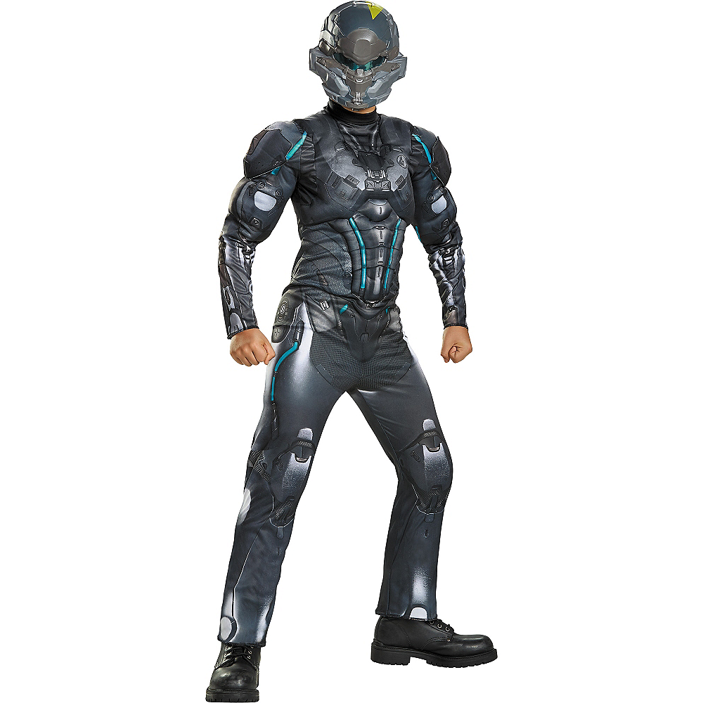 Nav Item for Boys Halo Spartan Locke Muscle Costume - Halo Image #1