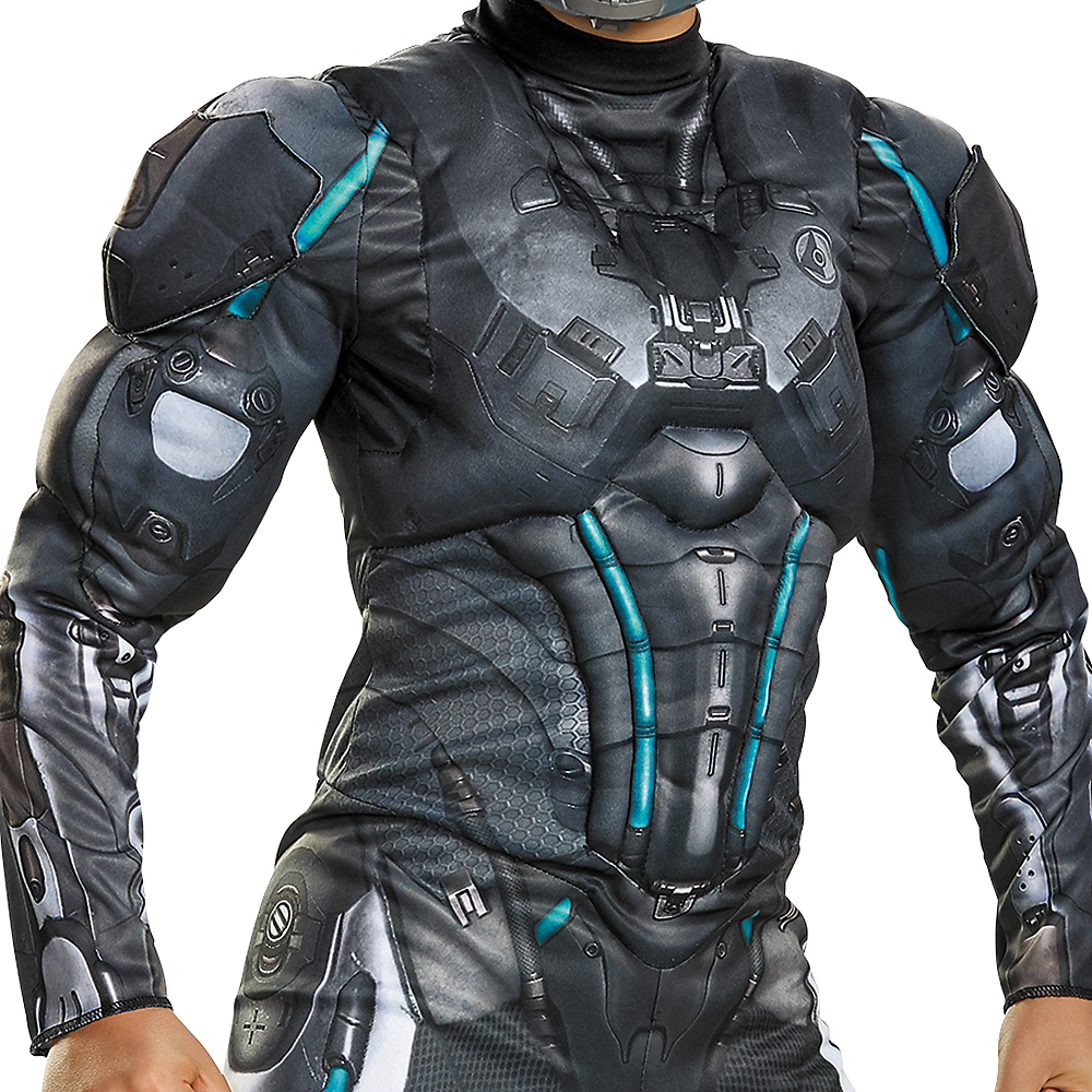 Nav Item for Boys Halo Spartan Locke Muscle Costume - Halo Image #3