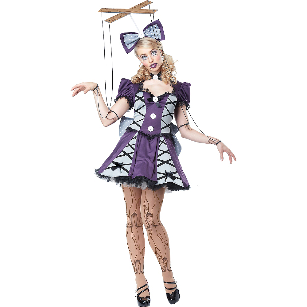 Adult Purple Marionette Costume Image #1