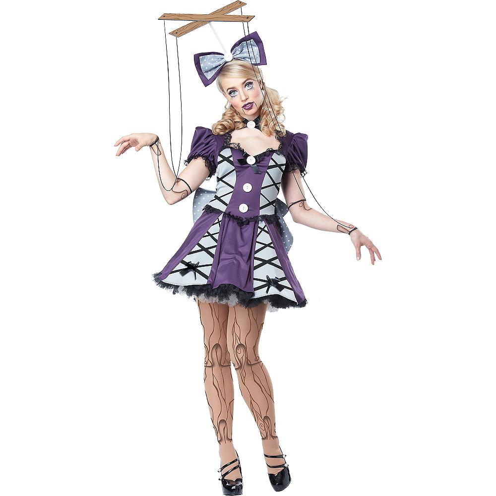 Adult Purple Marionette Costume Image #1