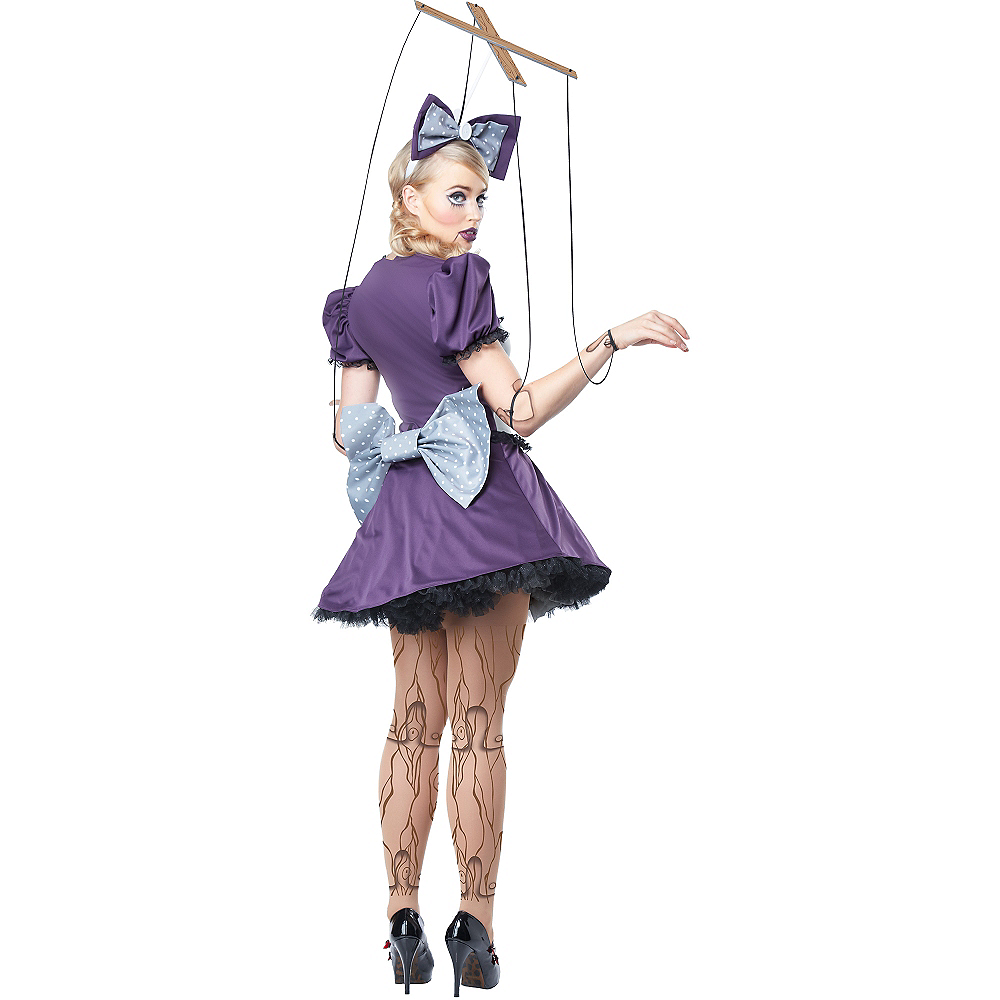 Adult Purple Marionette Costume Image #2