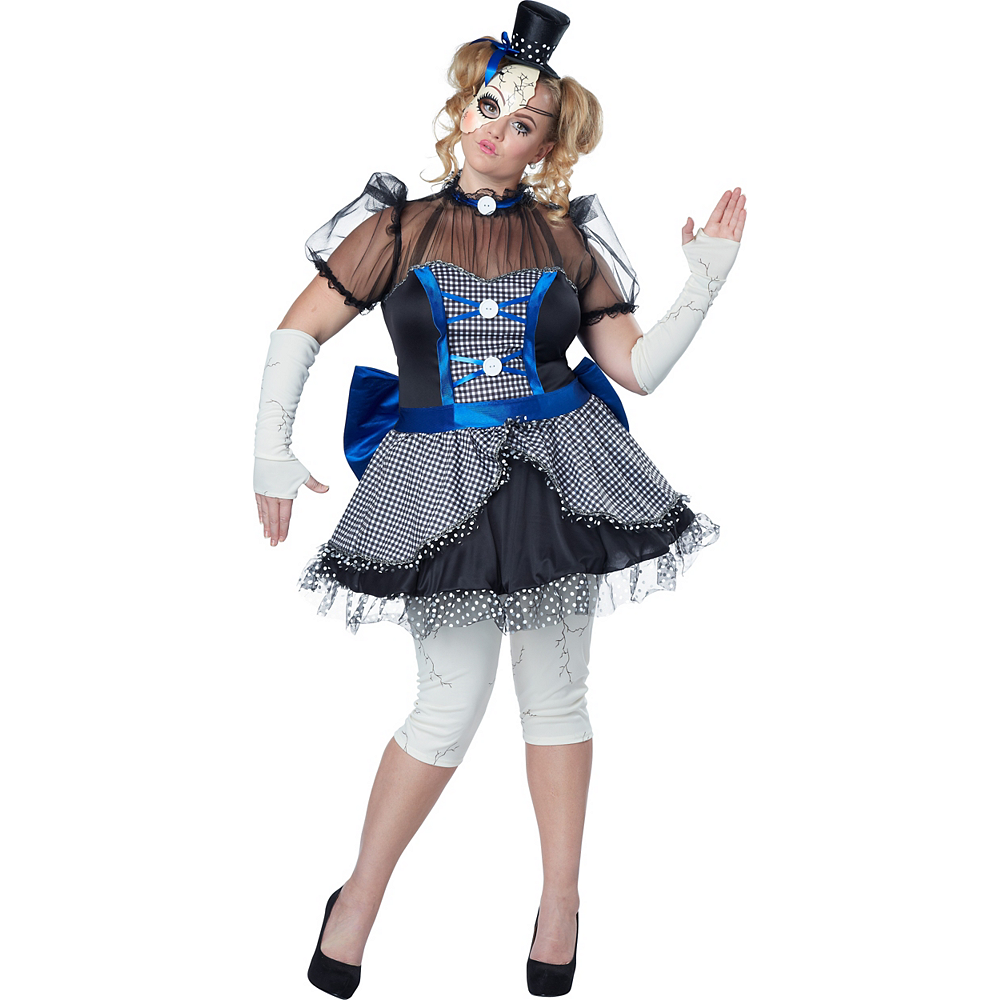 Adult Twisted Doll Costume Plus Size Image #1