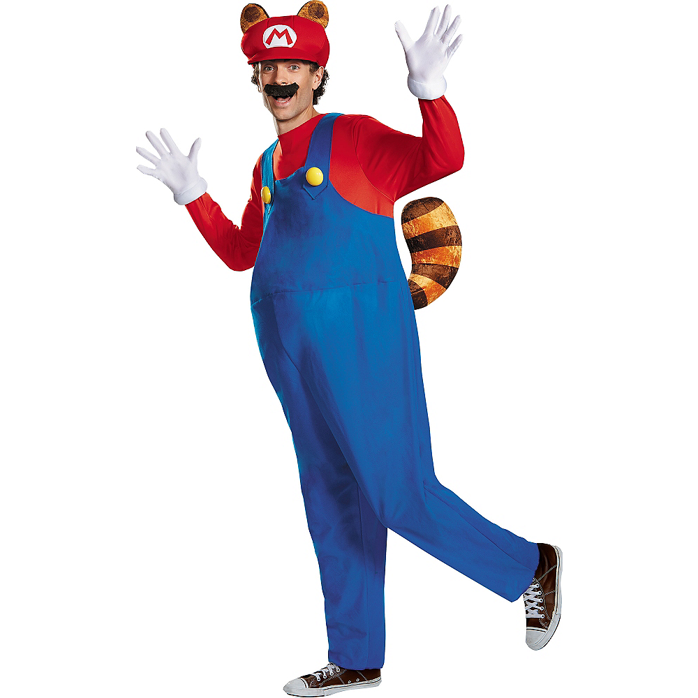 Adult Raccoon Super Mario Costume Image #1