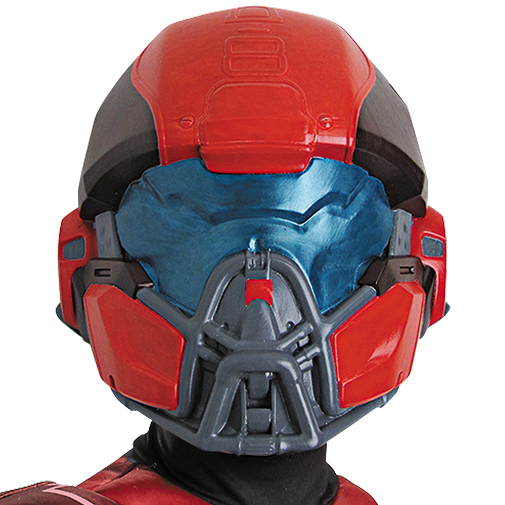 Boys Red Spartan Muscle Costume - Halo Image #2