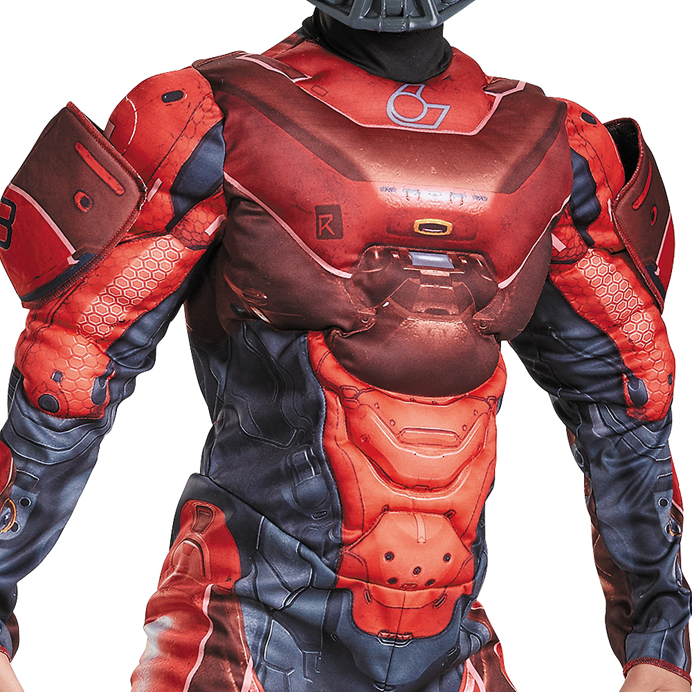 Boys Red Spartan Muscle Costume - Halo Image #3