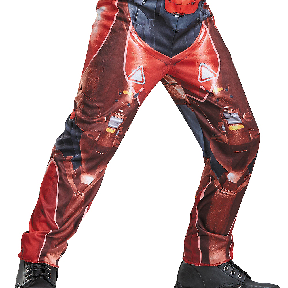 Boys Red Spartan Muscle Costume - Halo Image #4
