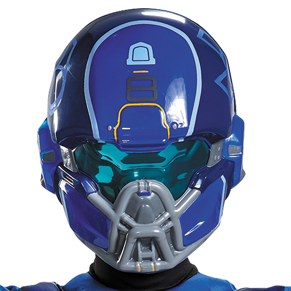 Nav Item for Boys Blue Spartan Muscle Costume - Halo Image #2