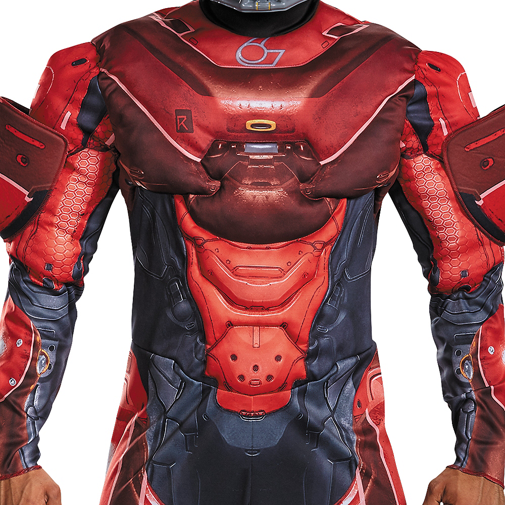 Adult Red Spartan Muscle Costume - Halo Image #3