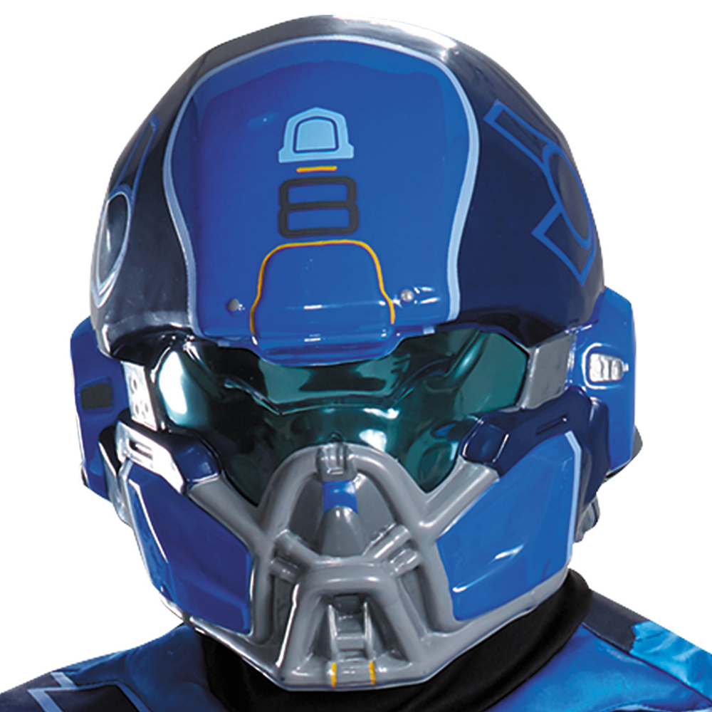Adult Blue Spartan Muscle Costume Plus Size - Halo Image #2