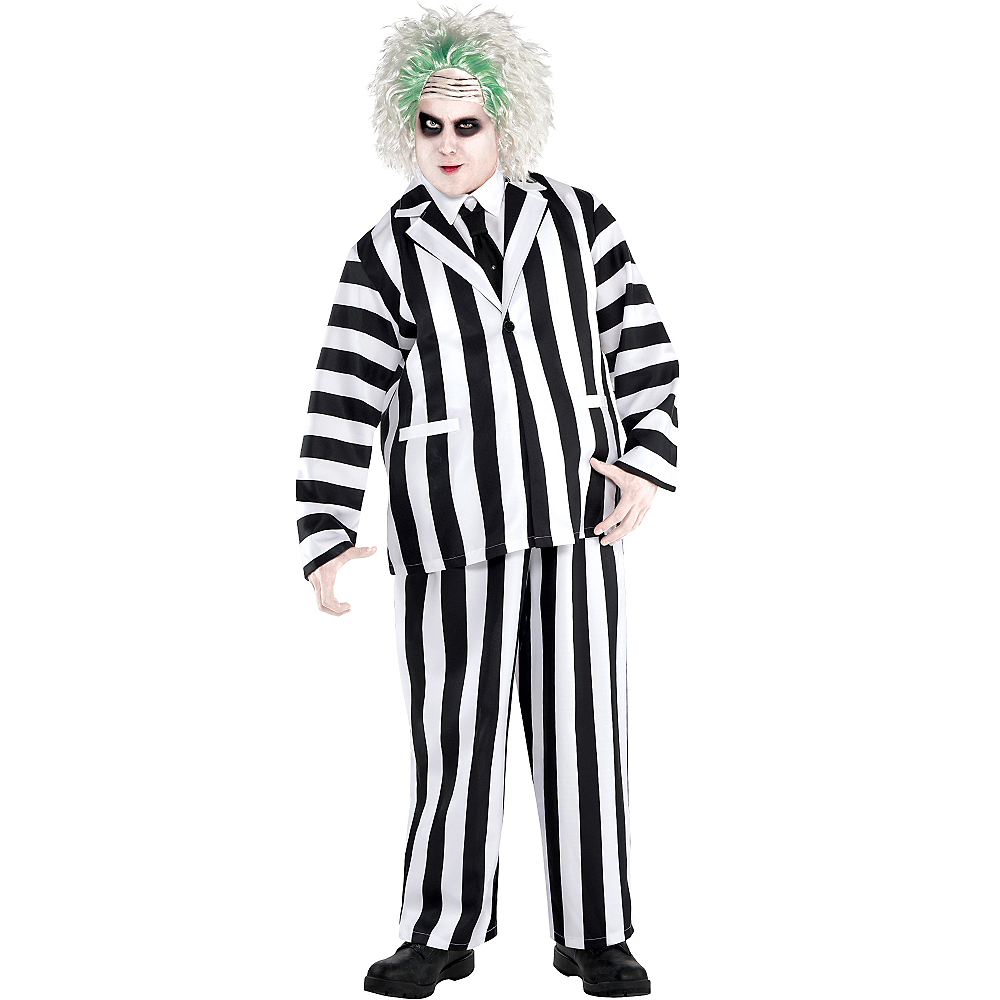 Adult Beetlejuice Costume Plus Size Party City