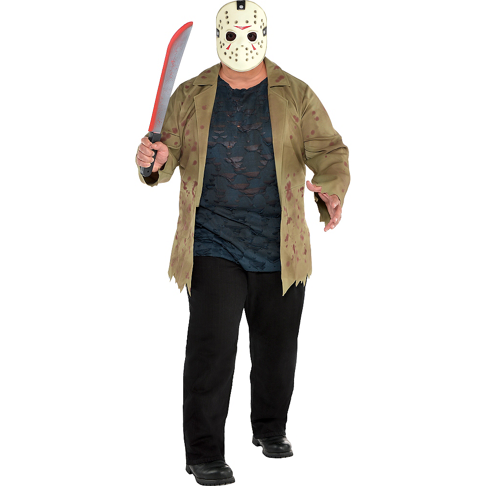 Halloween Costume Jason Friday 13th.Adult Jason Voorhees Costume Plus Size Friday The 13th