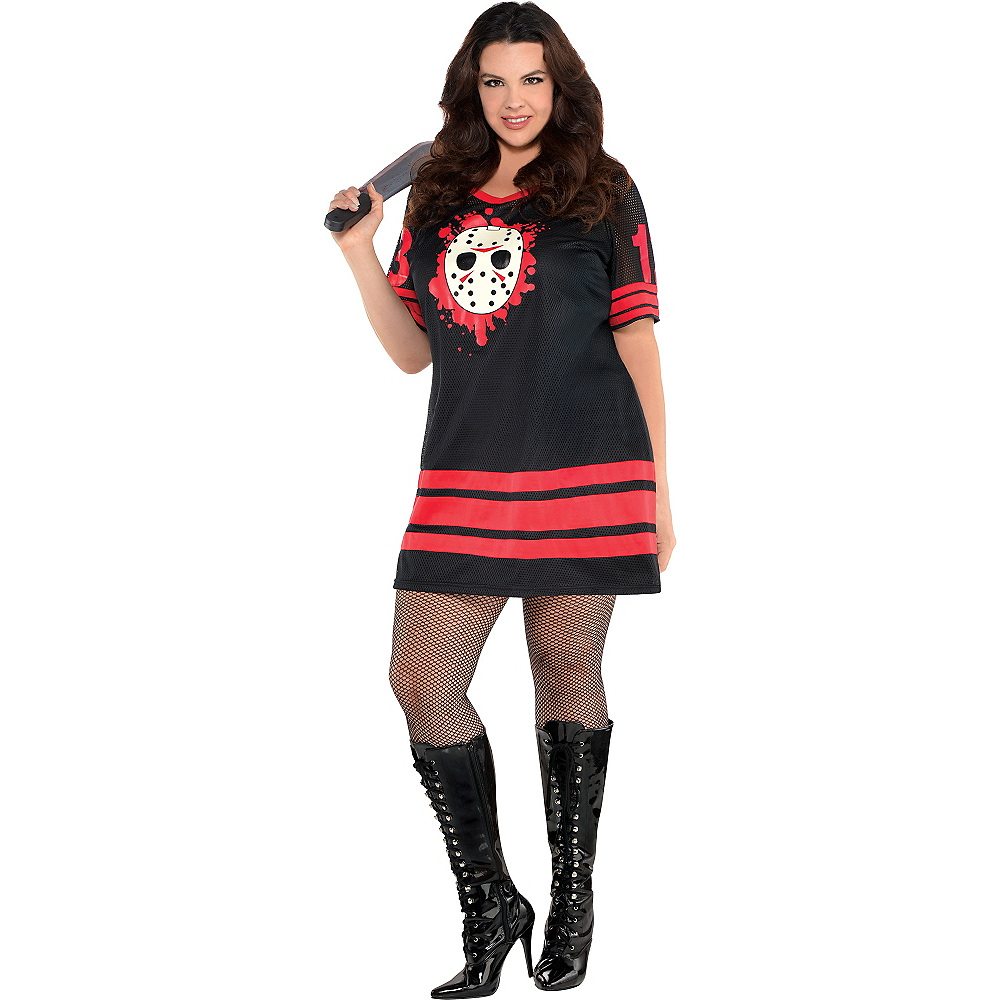 Adult Miss Voorhees Costume Plus Size - Friday the 13th Image #1