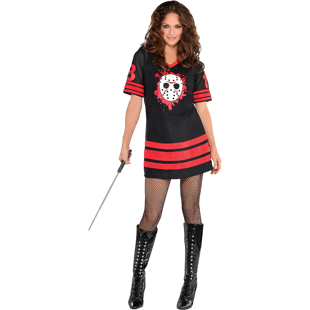 Nav Item for Adult Miss Voorhees Costume - Friday the 13th Image #1