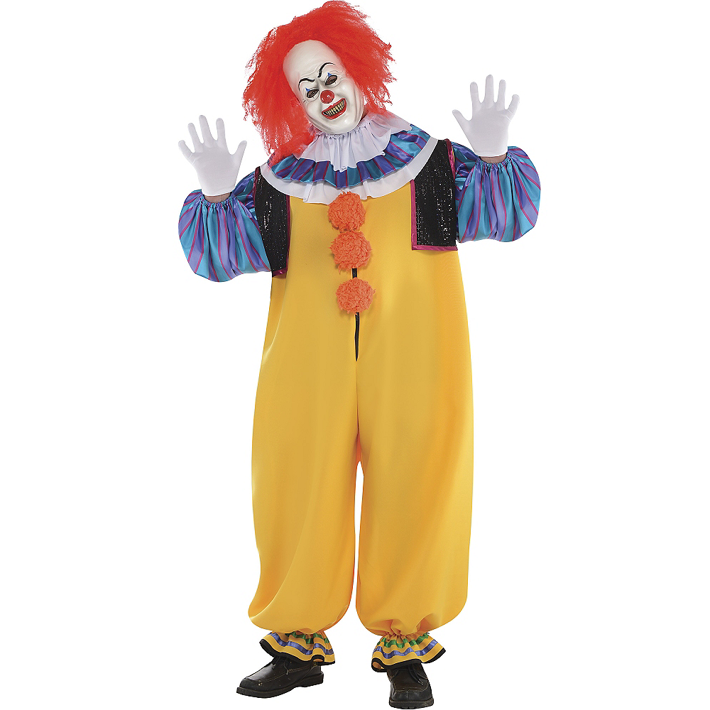 Adult Pennywise Costume Plus Size - It Image #1