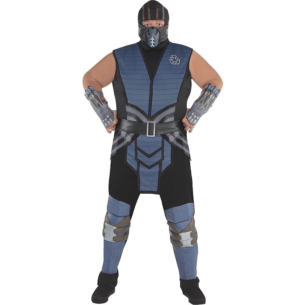 Nav Item for Adult Sub-Zero Costume Plus Size - Mortal Kombat Image #1
