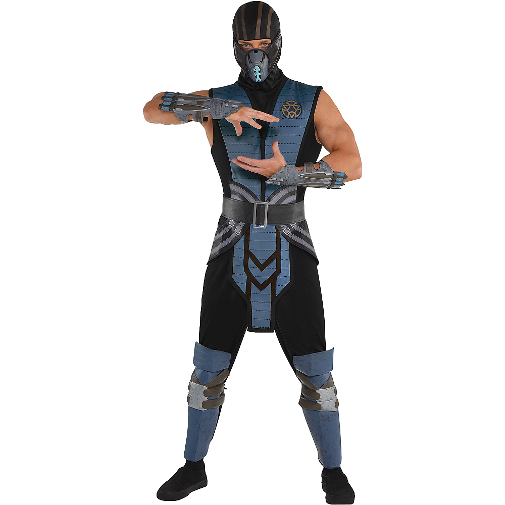 Nav Item for Adult Sub-Zero Costume - Mortal Kombat Image #1
