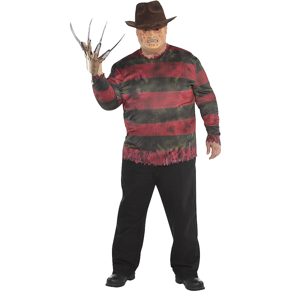 Nav Item for Adult Freddy Krueger Costume Plus Size - A Nightmare on Elm Street Image #1