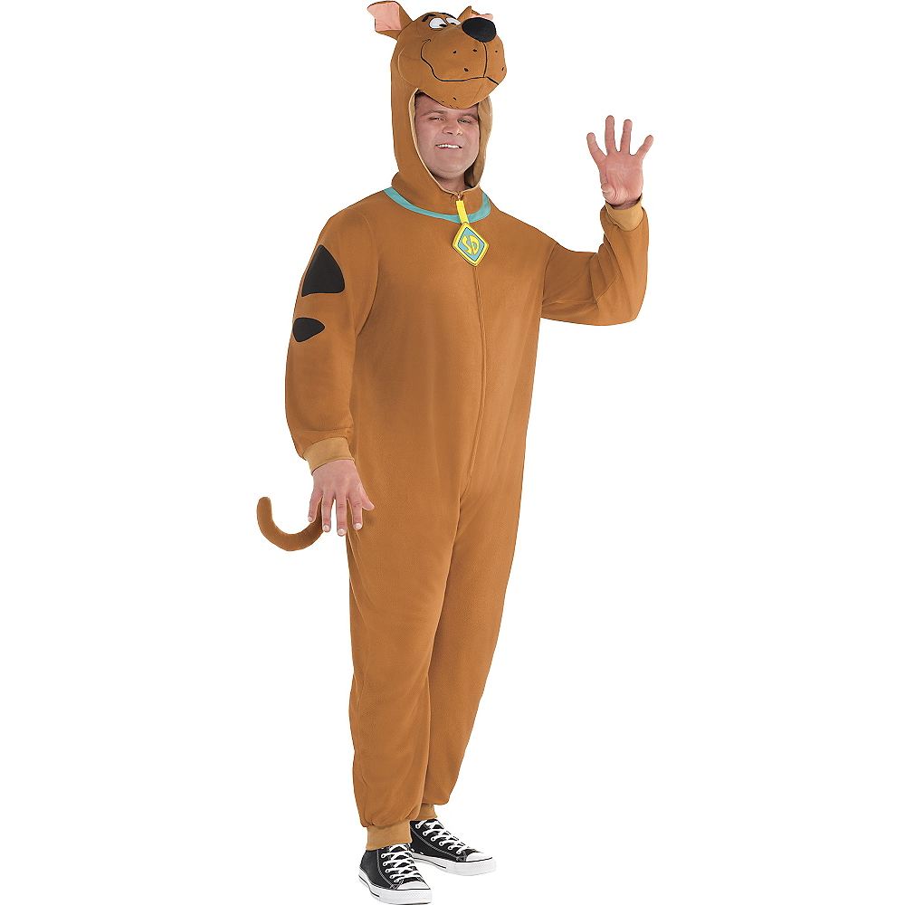 Adult Zipster Scooby-Doo One Piece Costume Plus Size Image #1