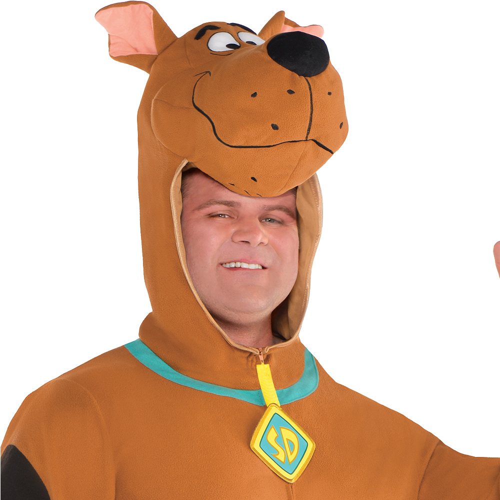 Adult Zipster Scooby-Doo One Piece Costume Plus Size Image #2