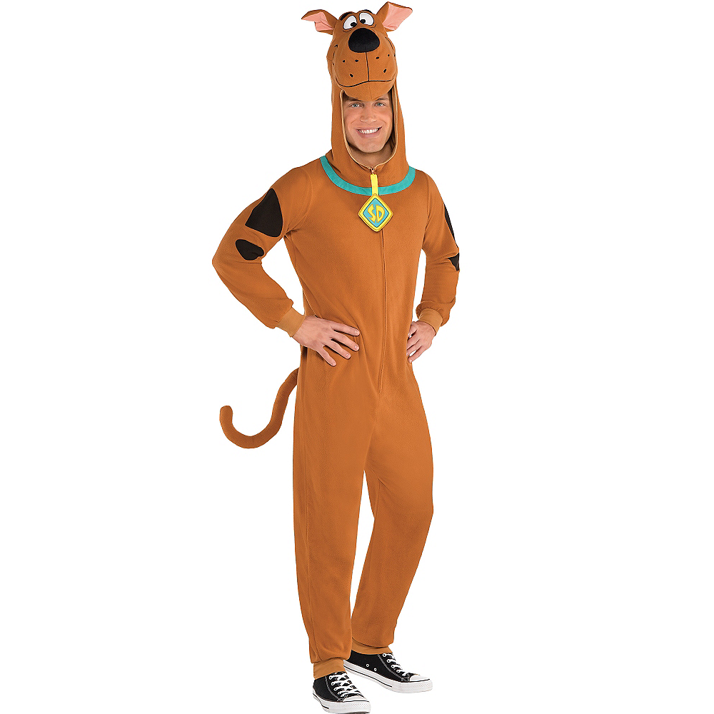 Adult Zipster Scooby-Doo One Piece Costume Image #1
