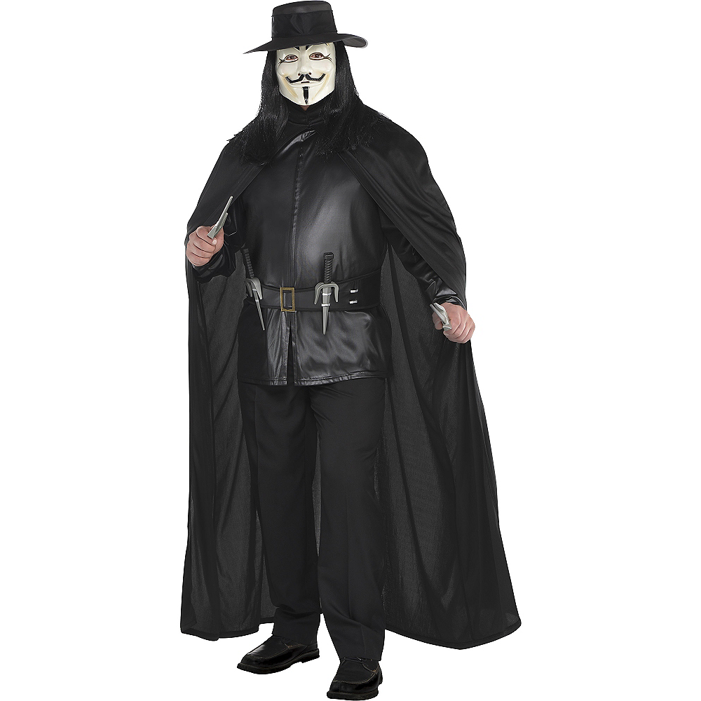Adult V Costume Plus Size - V for Vendetta Image #1