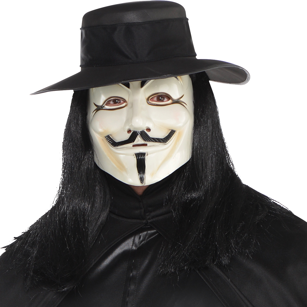 Adult V Costume Plus Size - V for Vendetta Image #2