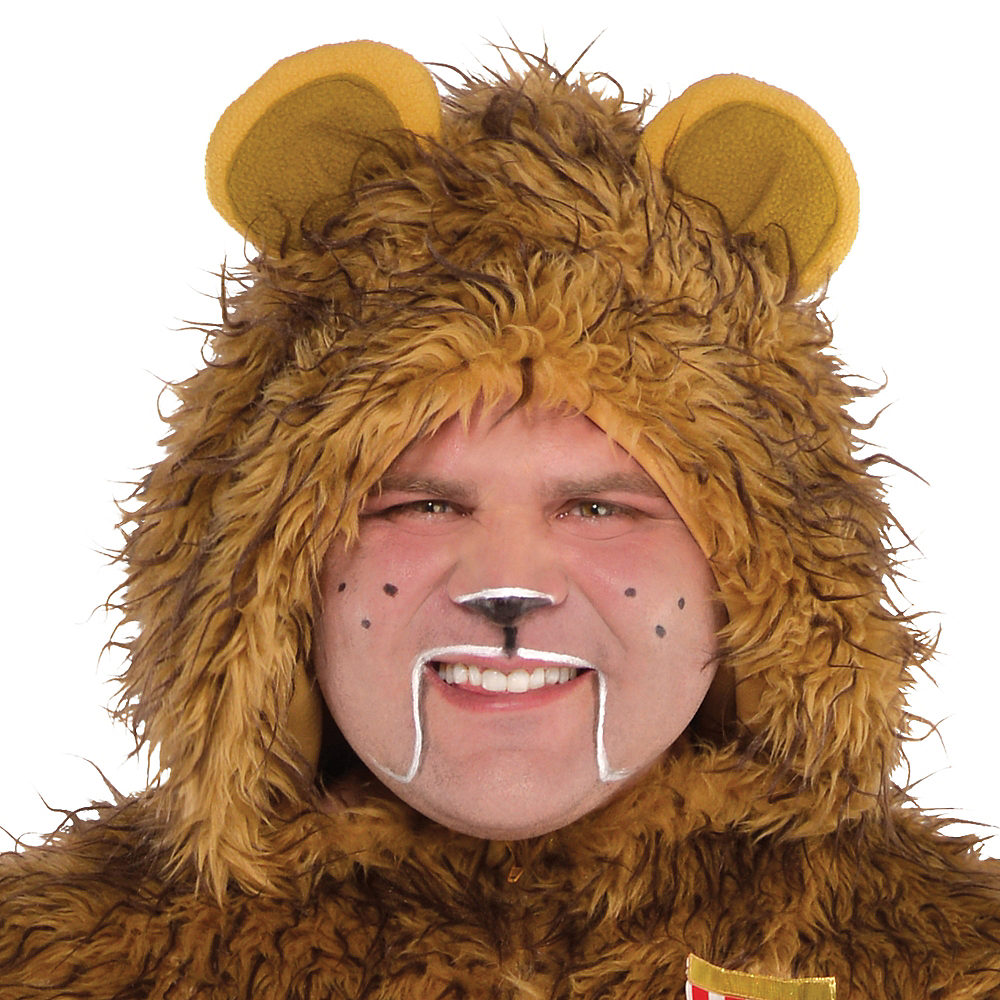 Adult Zipster Cowardly Lion One Piece Costume Plus Size - The Wizard of Oz Image #2