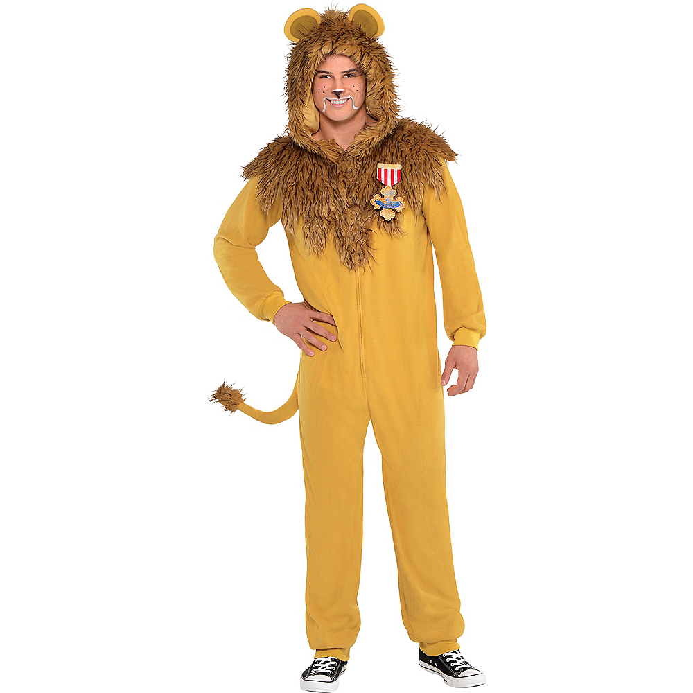 Adult Zipster Cowardly Lion One Piece Costume - The Wizard of Oz ...