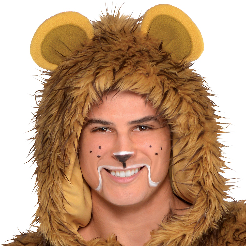 Adult Zipster Cowardly Lion One Piece Costume - The Wizard of Oz Image #2