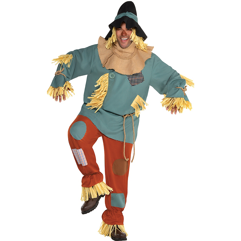 Adult Scarecrow Costume Plus Size - Wizard of Oz Image #1