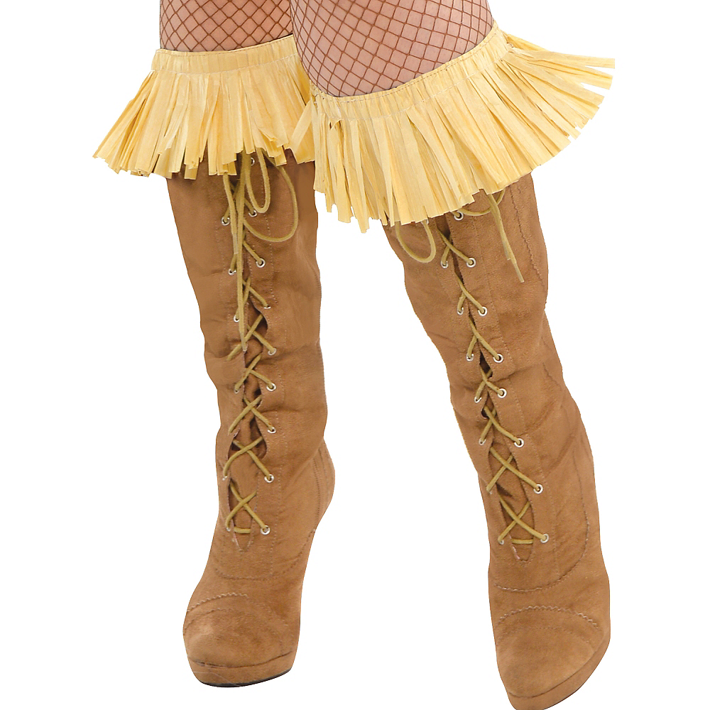 Adult Scarecrow Costume Plus Size - The Wizard of Oz Image #4
